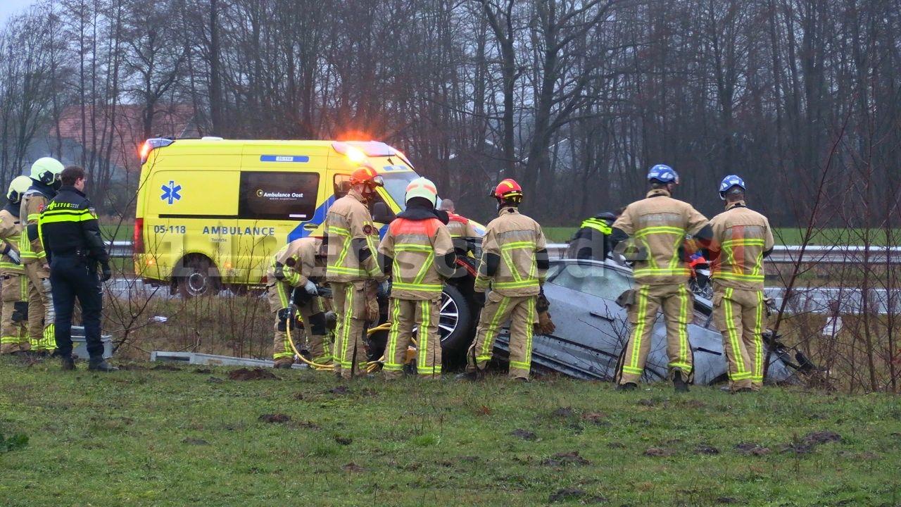 VIDEO: Zwaar ongeval op de N18